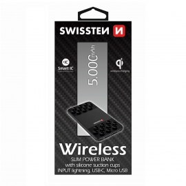 SWISSTEN WIRELESS SLIM POWER BANK 5000 mAh