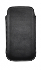 Genuine Leather Pouch - M, black
