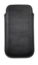 Genuine Leather Pouch - L, black