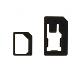 Nano-SIM to Micro-SIM & Nano-SIM to Mini-SIM Adapter Kit, black