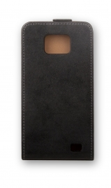 PU Leather Flip Case - Galaxy S II, black