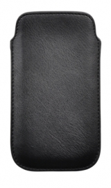 PU Leather Pouch - XL, black