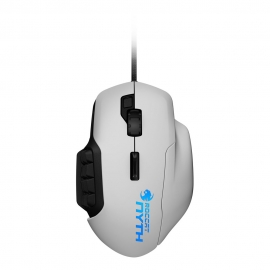 ROC-11-901 NYTH Modular MMO Gaming Mouse, White