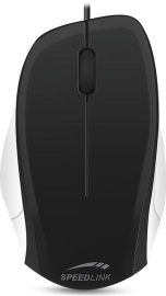 SL-610000-BKWE LEDGY Mouse - wired, black-white