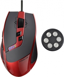 SL-6398-RD-01 KUDOS RS Gaming Mouse, red-black