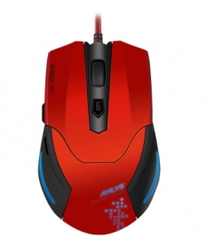 SL-680000-BKRD SVIPA Gaming Mouse, red-black